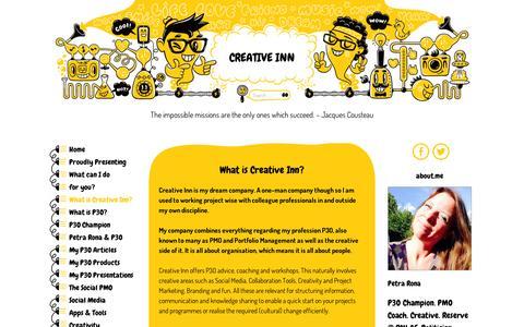 Screenshot of Contact Page wordpress.com - What is Creative Inn? | Creative Inn - captured Sept. 12, 2014