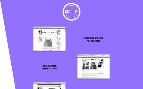 Screenshot of Press Page amagnumopus.com - Opus | News - captured Oct. 6, 2014