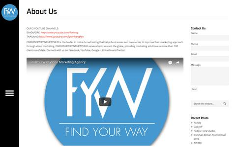 Screenshot of About Page findyourwayintheworld.com - FindYourWayInTheWorld | About Us - FindYourWayInTheWorld - captured Oct. 13, 2017