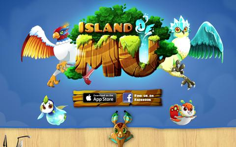 Screenshot of Home Page islandofmu.com - Island of Mu, play for free with your friends on iOS and Facebook ! - captured Sept. 30, 2014
