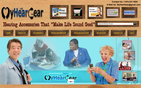 Screenshot of Home Page myheargear.com - My Hear Gear - captured Jan. 15, 2015