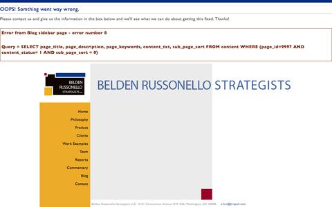 Screenshot of Blog brspoll.com - Belden Russonello Strategists: Public Opinion Research and Strategic Communications - captured Oct. 10, 2017