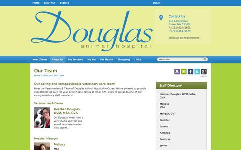 Screenshot of Team Page douglasanimalhospital.com - Veterinarians & Team in Osseo, Minnesota   Douglas Animal Hospital Osseo, Minnesota - captured Jan. 7, 2016