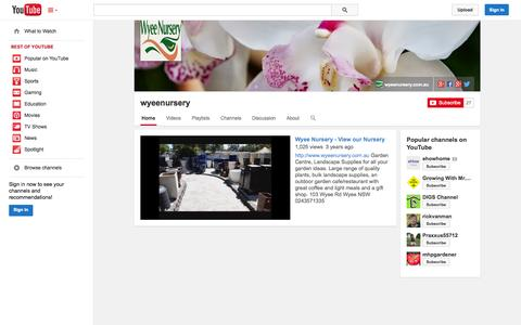 Screenshot of YouTube Page youtube.com - wyeenursery  - YouTube - captured Oct. 29, 2014