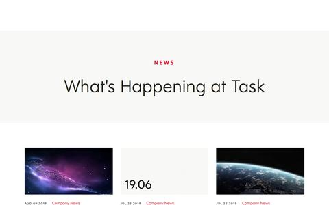 Screenshot of Press Page taskretailtechnology.com - Task | News - captured Aug. 14, 2019