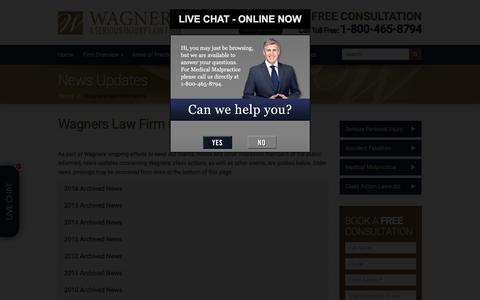 Screenshot of Press Page wagners.co - Nova Scotia Injury Lawyer | Wagners Law Firm News | Halifax Accident Lawyer - captured Oct. 18, 2017