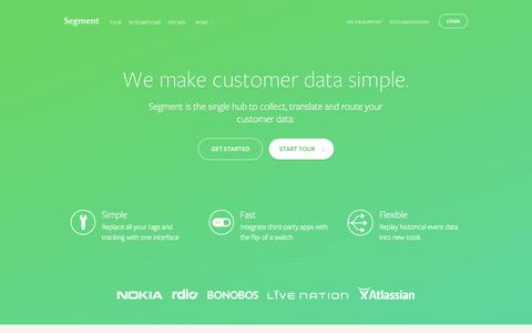 Segment - We make customer data simple.