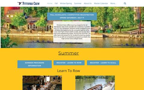 Screenshot of Home Page pittsfordcrew.org - Pittsford Crew - Home - captured July 18, 2018