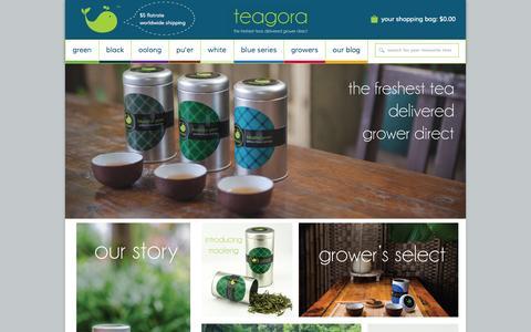 Screenshot of Home Page teagora.com - the freshest tea delivered grower direct – Teagora - captured Sept. 30, 2014