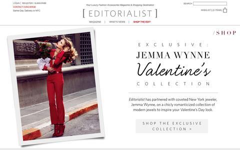Screenshot of Home Page editorialist.com - Editorialist | Luxury Fashion Accessories Magazine & Online Store - captured Jan. 28, 2016