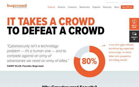 Screenshot of Products Page bugcrowd.com - How it Works | Bugcrowd - captured May 7, 2019