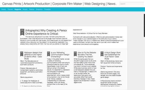 Canvas Prints | Artwork Production | Corporate Film Maker | Web Designing | Newsprint Proofing