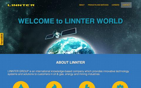 Screenshot of Home Page linnter.com - LINNTER GROUP - Innovative technology systems and solutions for customers in oil & gas, energy and mining industries. - captured Oct. 1, 2014