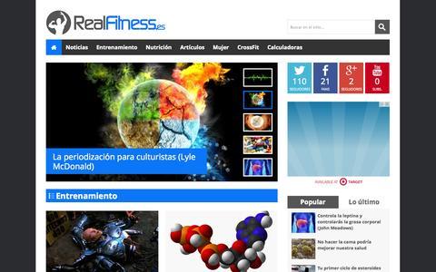 Screenshot of Home Page realfitness.es - RealFitness.es - Culturismo, fitness y nutrición basado en ciencia - captured Sept. 23, 2014