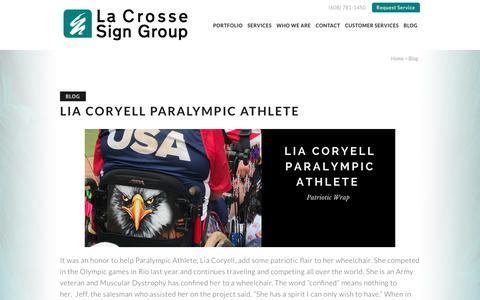 Screenshot of Blog lacrossesign.com - Blog - La Crosse Sign Group - captured July 13, 2017