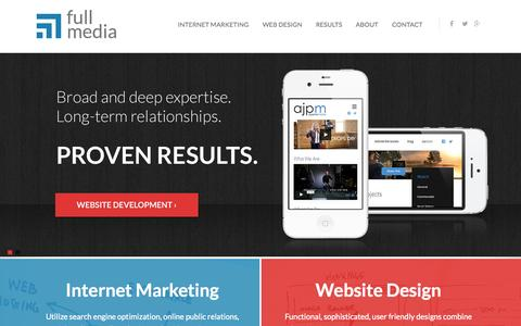 Screenshot of Home Page fullmedia.com - Internet Marketing Company | Full Media - captured Sept. 19, 2014