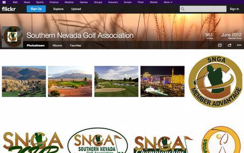 Screenshot of Flickr Page flickr.com - Flickr: Southern Nevada Golf Association's Photostream - captured Oct. 26, 2014