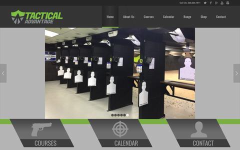 Screenshot of Home Page tacticaladvantagemn.com - Full-Service Gun Range | Tactical Advantage - captured Oct. 20, 2018