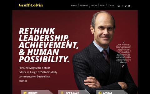 Screenshot of Home Page geoffcolvin.com - Home - Geoff Colvin - captured Oct. 10, 2015