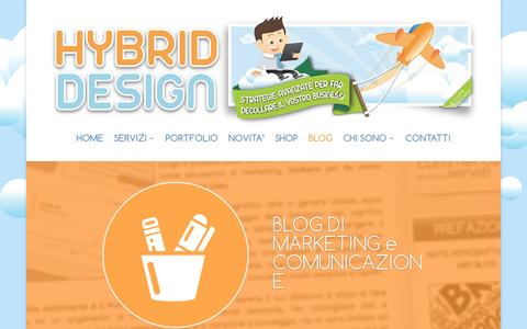 Screenshot of Blog hybriddesign.it - Blog - Davide Canella | Consigli e approfondimenti di marketing - captured Feb. 2, 2016