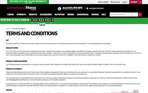 Terms and Conditions at Powerhouse Fitness