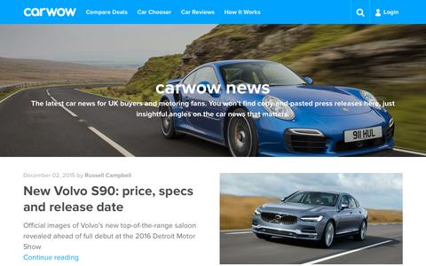 Screenshot of Press Page carwow.co.uk - Car News | carwow - captured Dec. 4, 2015