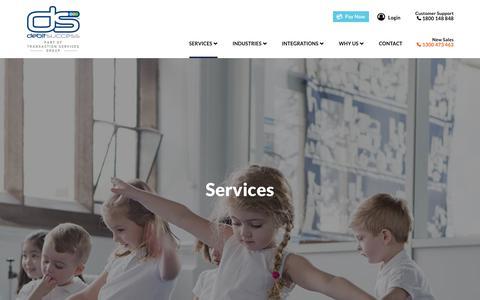 Screenshot of Services Page debitsuccess.com.au - Direct Debit Solutions | Direct Debit Services | Debitsuccess - captured Aug. 6, 2018