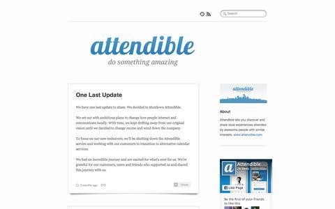 Screenshot of Blog attendible.com - Attendible - captured Feb. 6, 2016