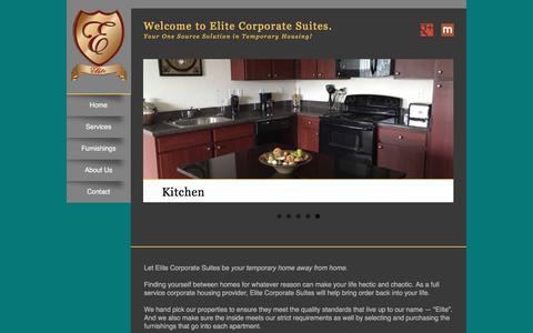 Screenshot of Home Page elitecorporatesuites.com - Welcome to Elite Corporate Suites. - captured Nov. 5, 2016
