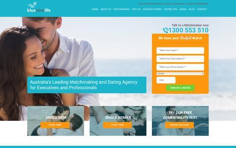 Screenshot of Home Page bluelabellife.com.au - Elite Singles | Elite Dating Site | Matchmaking Services - captured Jan. 6, 2016