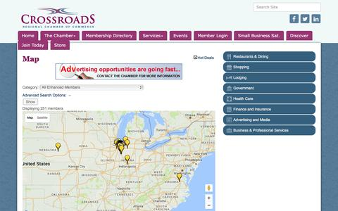 Screenshot of Maps & Directions Page crossroadschamber.org - Map - Crossroads Regional Chamber of Commerce, IN - captured Nov. 14, 2016