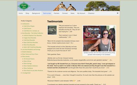 Screenshot of Testimonials Page safarigold.com - Testimonials | Safari Gold - captured July 13, 2018