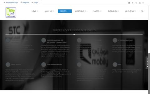 Screenshot of Services Page qutubtech.net - Services | Qutub Technology for Contracting Co. - captured Feb. 2, 2016