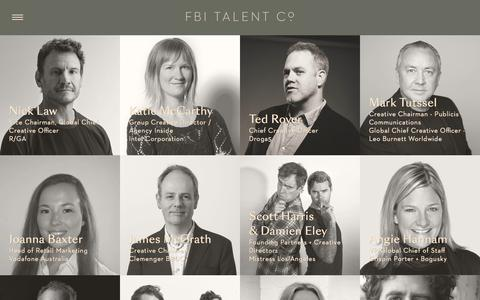 Screenshot of Testimonials Page fbitalent.co - FBI Talent Co - captured June 5, 2017
