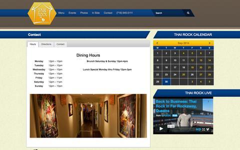 Screenshot of Contact Page thairock.us - Contact - Thai Rock - captured Sept. 30, 2014