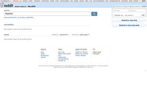reddit.com: search results - MediSYS