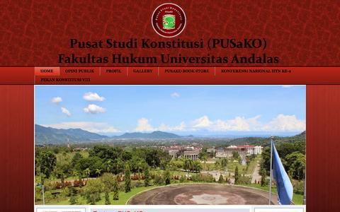 Screenshot of Home Page pusako.or.id - Home - captured Feb. 2, 2016