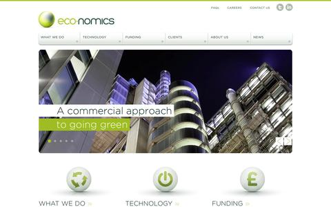 Screenshot of Home Page eco-nomics.co.uk - Eco-Nomics | Helping you reduce operating costs and energy consumption - captured Oct. 1, 2014