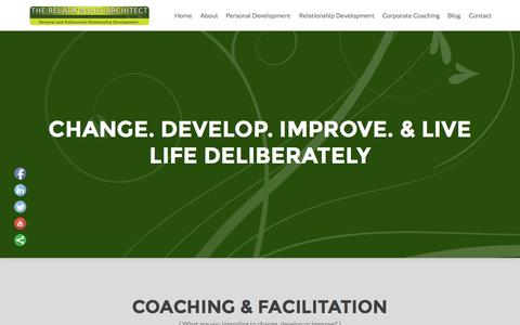Screenshot of Home Page newlifecoach.net - The Relationship Architect   Personal & Professional Relationship Development - captured Aug. 12, 2015