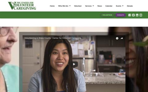 Screenshot of Home Page volunteercaregiving.org - The Center for Volunteer Caregiving | The Center for Volunteer Caregiving - captured Sept. 27, 2018