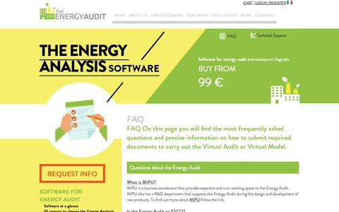Screenshot of FAQ Page the-energyaudit.com - Frequently Asked Questions about The Energy Audit - captured Oct. 7, 2014