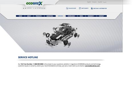 Screenshot of Services Page ecobrex.com - ECOBREX® SERVICES - captured Jan. 30, 2017