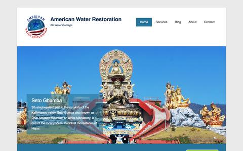 Screenshot of Home Page onlysolarenergy.com - American Water Restoration | No Water Damage - captured Aug. 16, 2015