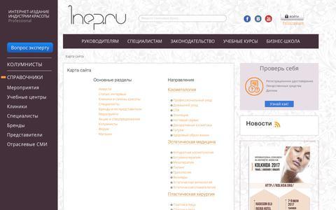 Screenshot of Site Map Page 1nep.ru - Карта сайта | Портал 1nep.ru - captured June 18, 2017