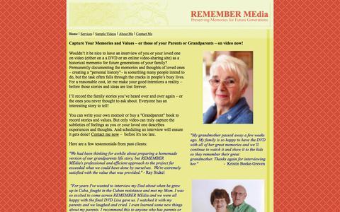 Screenshot of Home Page remember-media.com - REMEMBER MEdia - captured Feb. 26, 2016