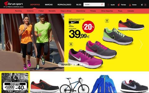 Screenshot of Home Page forumsport.com - Forum Sport   No 1 en precios de marcas l'deres - captured Nov. 16, 2015