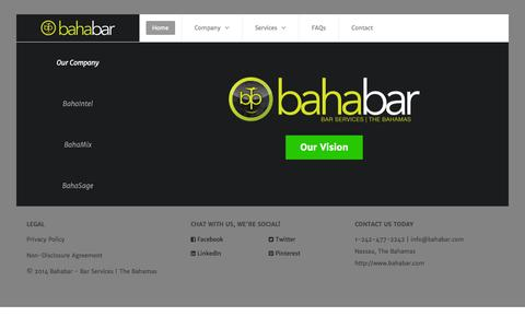 Screenshot of Home Page bahabar.com - BahaBar | Bar Services - captured Sept. 30, 2014
