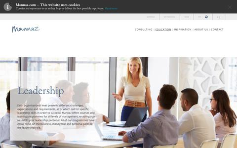 Screenshot of Team Page mannaz.com - Leadership - captured Sept. 28, 2018