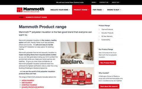 Screenshot of Products Page mammoth.co.nz - Mammoth Product range - captured Feb. 4, 2016