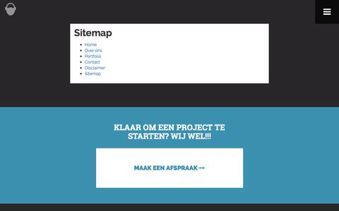 Screenshot of Site Map Page brainworks.nl - Sitemap - captured Oct. 11, 2017